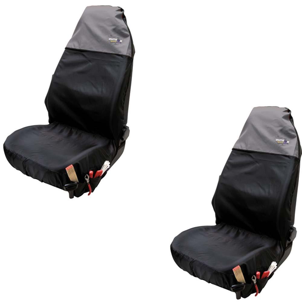 2 x werkstattschoner schonbezug sitzbezug sitzschoner auto bezug werkstatt grau ebay. Black Bedroom Furniture Sets. Home Design Ideas
