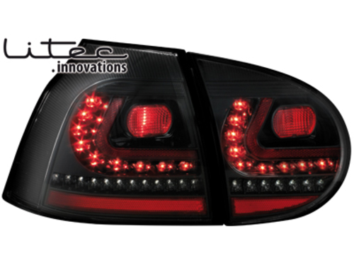 vw golf 5 klarglas led litec r ckleuchten heckleuchten set. Black Bedroom Furniture Sets. Home Design Ideas