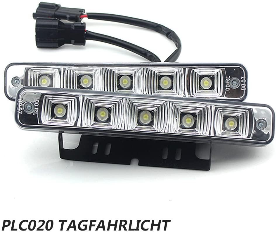 RUND Ø70-90mm TAGFAHRLICHT 4 x 2 SMD LED R87 für Toyota
