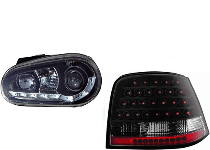 led r ckleuchten tagfahrlicht scheinwerfer vw golf 4 b ebay. Black Bedroom Furniture Sets. Home Design Ideas