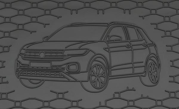 LADERAUMWANNE GUMMIWANNE KOFFERRAUMWANNE FÜR VW T-CROSS 2019