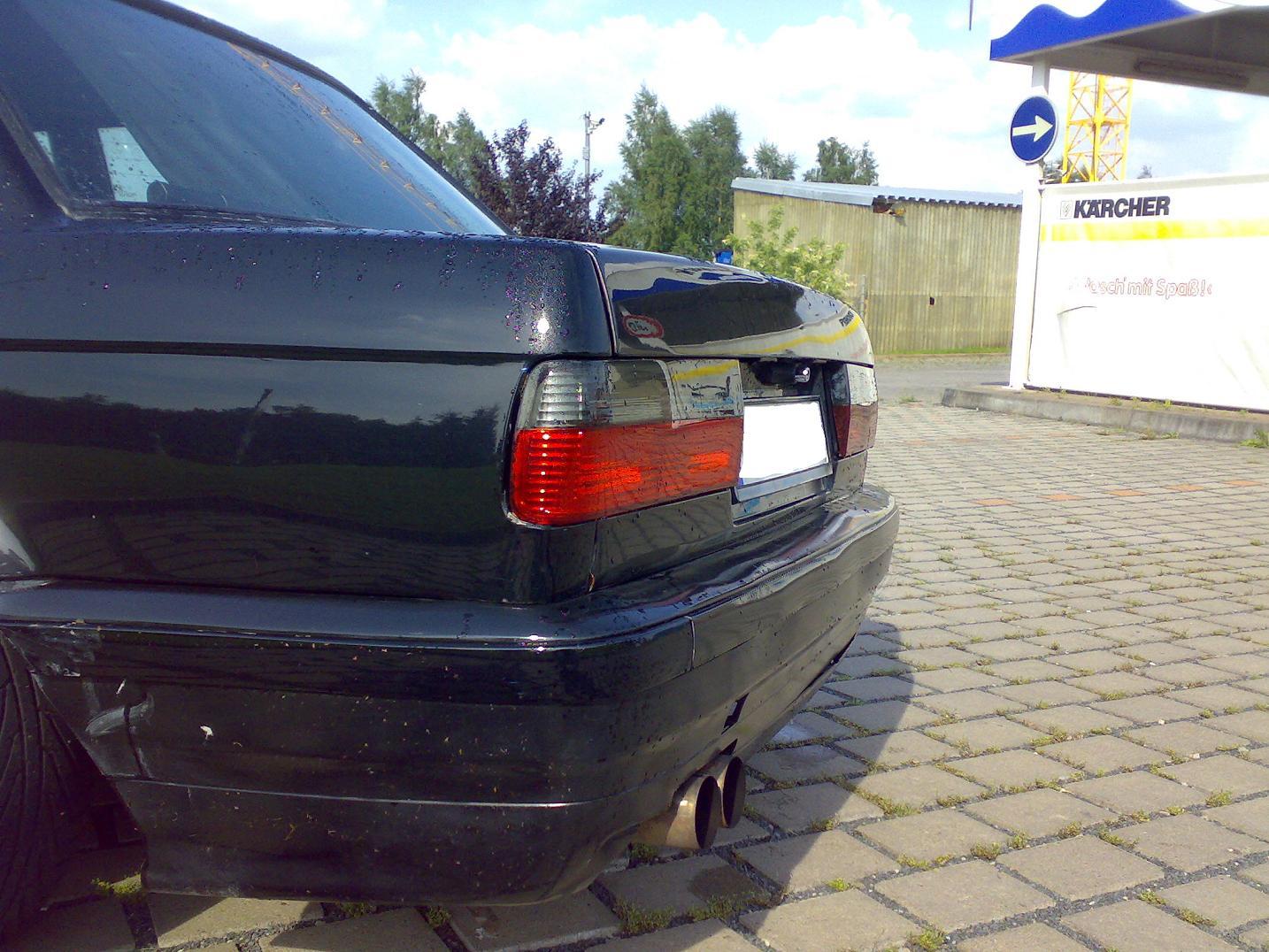 RÜCKLEUCHTEN KLARGLAS BMW E30 ROT SCHWARZ 1983-8//87