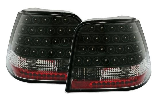 led r ckleuchten klarglas vw golf iv 4 schwarz neu ktl ebay. Black Bedroom Furniture Sets. Home Design Ideas