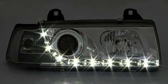 dayline led tagfahrlicht tfl scheinwerfer bmw 3er e36. Black Bedroom Furniture Sets. Home Design Ideas