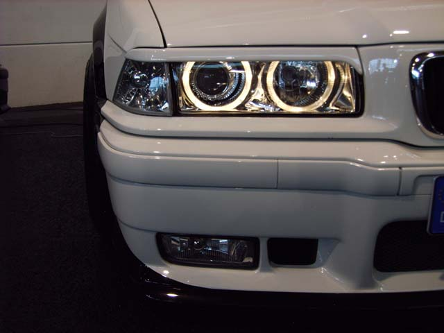 SCHEINWERFER ANGEL EYES BMW E36 3ER LIMOUSINE SCHWARZ