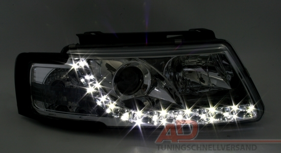 led r ckleuchten tagfahrlicht scheinwerfer vw passat 3b ebay. Black Bedroom Furniture Sets. Home Design Ideas